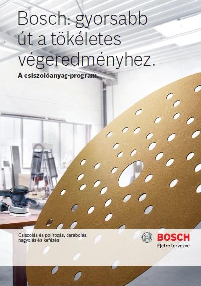 Bosch csiszolóanyag katalógus